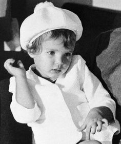 The Royal Hats Blog:  Princess Stephanie of Monaco, aged two, on a visit to the United States in August 1967.