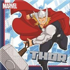 Stoere servetten! Aan de ene kant superheld Thor en aan de andere zijde Iron Man. www.creakelder.nl