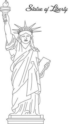 You Can Provide Statue Of Liberty Printable Coloring Page For Kids To Your Kid The Statute