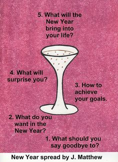 good questions to ask yourself for the New Year   tarot card spread   oracle cards   divination layout