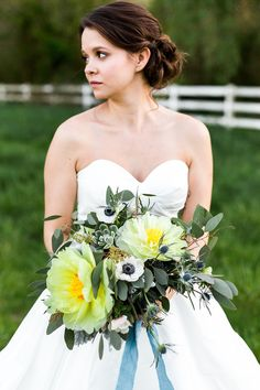 Passion & Peonies at the Greystone Estate by Mark & Anna Photo and Film featured on Lanier Bridal Yellow Weddings, Summer Weddings, North Atlanta, Atlanta Wedding, Peonies, Greenery, Passion, Bridal, Wedding Dresses