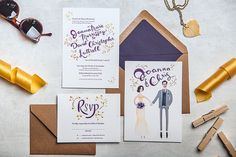 Joanna and Chris are a Brooklyn couple getting married in autumn. They are a mix of Joanna's NYC glamour and Chris' rustic chic to highlight his Southern roots. Wedding invitation and rsvp via Jolly Edition