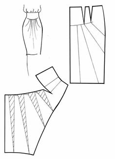Skirt Pattern - cut and spread method. Skirt Patterns Sewing, Sewing Patterns Free, Sewing Tutorials, Clothing Patterns, Dress Tutorials, Coat Patterns, Blouse Patterns, Techniques Couture, Sewing Techniques