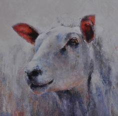 Portret schaap - olieverf op doek - artnr HW000284 - Dutchart 247