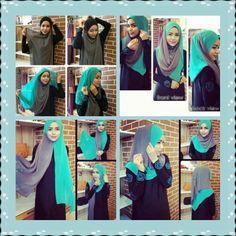 Two tone hijab tutorial