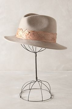 #feather trim rancher #anthrofave #anthropologie