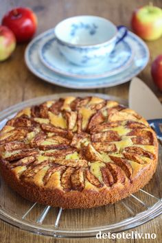 Baking Recipes, Cake Recipes, Norwegian Food, Nom Nom, Recipies, Deserts, Food And Drink, Sweets, Apple