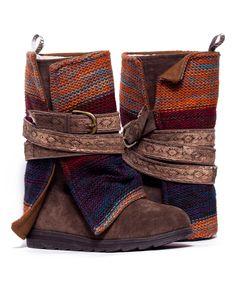 Medium Beige Nikki Belt-Wrapped Boot