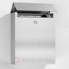 Sandleford Silver/Red Aurora Pillar Letterbox | letterboxes