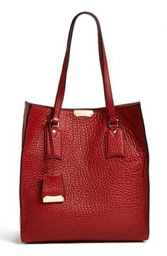 $1,195, Burgundy Leather Tote Bag: Woodbury Medium Leather Tote by Burberry. Sold by Nordstrom.