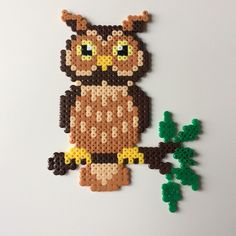 Owl hama beads by _the_creative_girls_