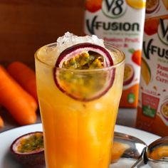 Passionfruit, Mango & Carrot Collins   V8 UK