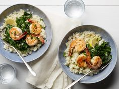 Get Whole30 Shrimp and Cauliflower Grits Recipe from Food Network