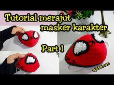 Easy Face Masks, Face Masks For Kids, Crochet Beret Pattern, Crochet Patterns, Crochet Faces, Crochet Toys, Tapas, Crochet World, Crochet Projects