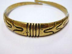 Kalevala-Koru-Finland-Vintage-Bronze-Bracelet-Bangle-Old-Finnish-Motif
