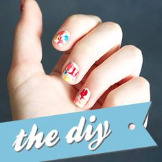 Homemade Nail Wraps by Quiet Lion Creations // Supplies: nail polish, x-acto knife, sharpie and toothpick. Get Nails, How To Do Nails, Diy Nail Designs, Nail Decals, Beauty Hacks, Beauty Tips, Nail Wraps, Nail Trends, Little Things
