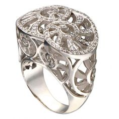 White gold with diamonds Nautilus ring from the Mediterráneo Collection by Carrera y Carrera