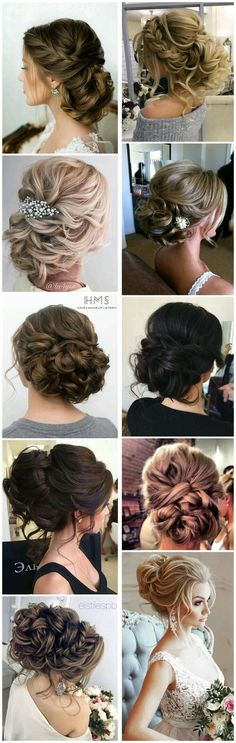 romantic updo. hairstyles. bridal hair.