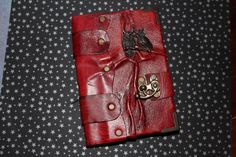 Red double owl journal by closetcleaners on Etsy