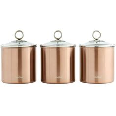 Embrace the copper and red trend! Premium 3 piece set - great for storing tea, coffee, sugar, biscuits, sweets, pasta, rice and more! Perfect for storing tea, coffee, sugar, biscuits, sweets, pasta, rice and more! | eBay!