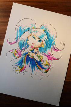 Chibi Arcade Sona by Lighane.deviantart.com on @DeviantArt
