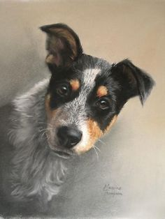 """Abby"" by Maxine Thompson, New Zealand born, contemporary pastel artist"