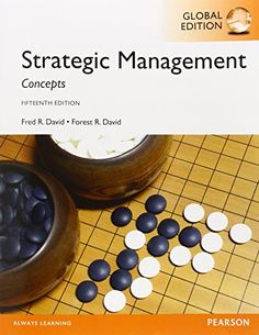 Strategic management concepts : a competitive advantage approach / Fred R. David and Forest R. David