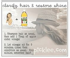home remedy - get shiny hair with apple cider vinegar