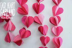 Bluet & Clover: Tissue Paper Heart Garland