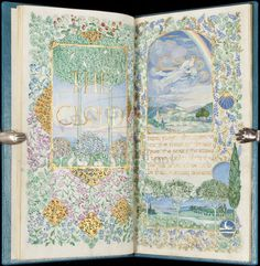 gorgeous hand painted illuminated manuscript by Jessie Bayes