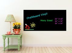 Vinyl Chalkboard Self Adhesive Stickers Wall by GreenMountainVinyl, $25.00