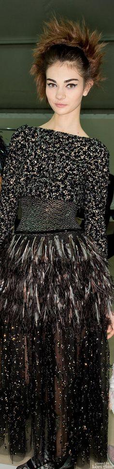 Chanel Spring Couture 2014 Backstage - Model: Antonina Vasylchenko