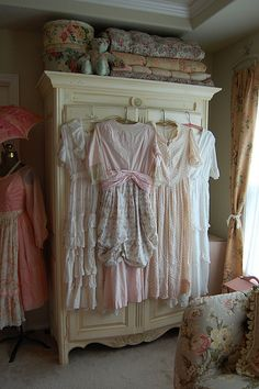 Lovely way to display pretty dresses