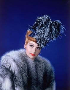 Yes to this hat. Well, and Lucy of course. If I'd lived in the 40s I'd have worn the most ridiculous (and by ridiculous I mean amazing) hats ever created. I wish the hat would come back as a required accoutrement.