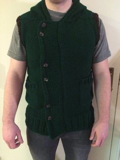 The Witcher Vest, Men's knitted vest, Sweater vest, Wolf Hauberk, Cosplay, link costume