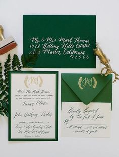 20 Emerald Details to Inspire Your Winter Wedding via Brit + Co