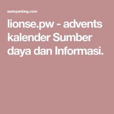 lionse.pw-adventskalender Sumber daya dan Informasi.