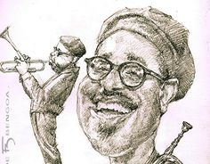 """Check out new work on my @Behance portfolio: """"Dizzy Gillespie, caricature"""" http://be.net/gallery/44240649/Dizzy-Gillespie-caricature"""