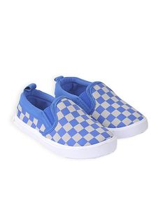 Pumpkin Patch - footwear - boys nomad check slip on - S4FW60004 - delft blue - 1 to 13