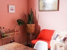 Pretty in Pink: Dining Room Makeover — Probably This