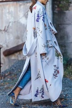 This gorgeous flowing and floral print design is one of the most popular coats on Pinterest