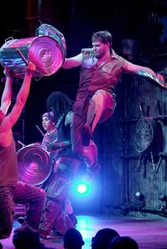 Stomp - we took the kids to see them on New Year's eve one year in Philadelphia's Merriam Theatre.  They were awesome!