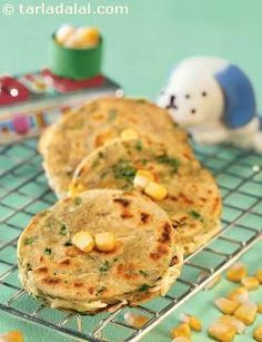 Corn Parathas ( Growing Kids Recipe) recipe | by Tarla Dalal | Tarladalal.com | #33526