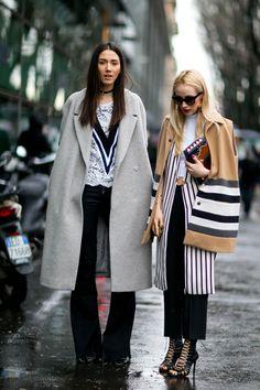 On the street at Milan Fashion Week. Photo: Imaxtree.