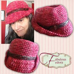Fabulous Fedora from Grammy's Heart, with Love!