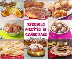 Ricette di Carnevale: una raccolta di ricette per il periodo di Carnevale. Dolci fritti e qualche idea golosa da mettere in tavola.