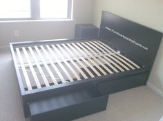 ikea malm storage bed assembled in U street Washington DC by Furniture assembly experts LLC