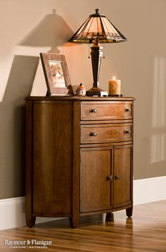 This Bradford accent cabinet offers the perfect way to display a few favorite photos, decorative items or add a little more lighting with a table lamp. Plus, the drawers and hidden shelf make it a great multitasking piece since you can never have too much room for storage.