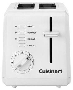 Cuisinart - 2-Slice Wide-Slot Toaster - White, CPT-122