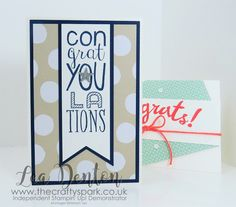 Super Simple Speedy Cards - Congratulations! Bravo! Stampin' Up! UK | The Crafty Spark